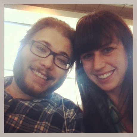 Unconsciously we both wore plaid flannel shirts this morning. We totally fit in on the plane full of people clad in flannels and outdoor gear - a dead giveaway that the plane was headed to the Pacific Northwest.