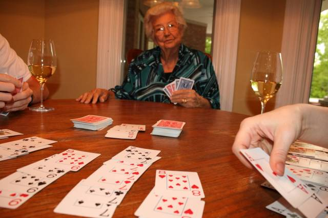 Playing cards - hand & foot, a version of Canasta
