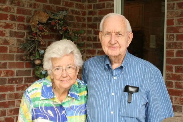The grandparents, 90 and almost 93 and married for almost 62 years