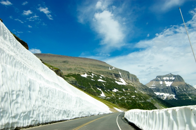 You can see why the road is sometimes closed - they have to clear thousands of pounds of snow each year.