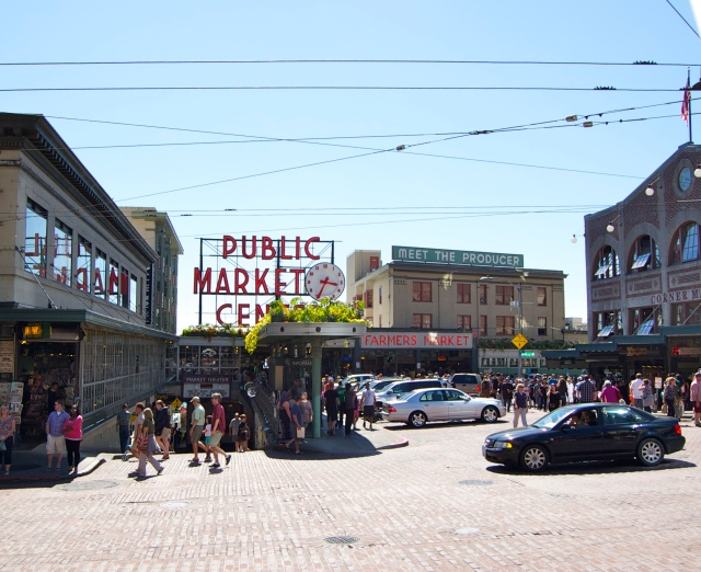 Nice picture of the Market without having to dodge traffic