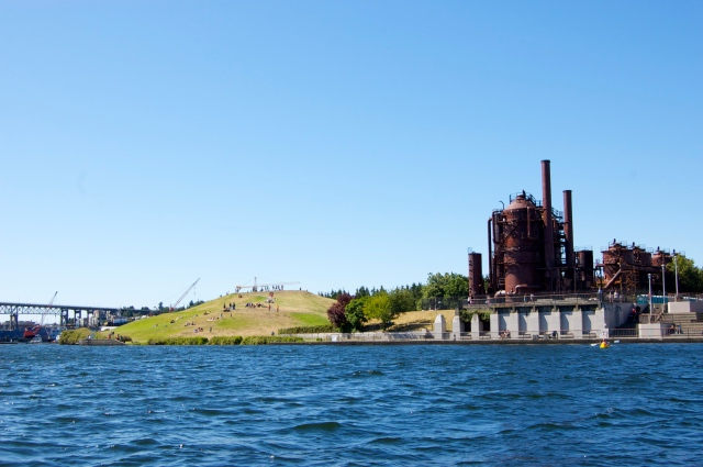 In the water we got incredible views of Gas Works Park