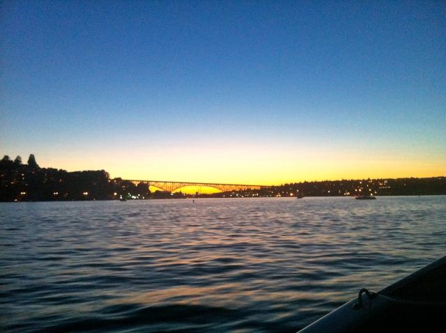 The Fremont Bridge and sunset.