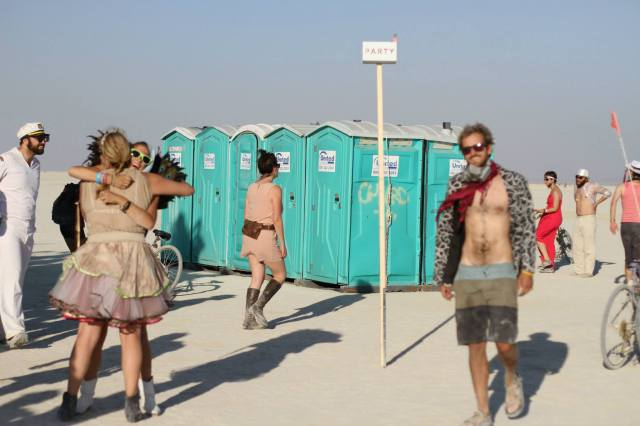 Photo Credit: Kim Clune (and the important bathroom stop - remember, we were in a desert and it is a crime to dump anything on the playa!)