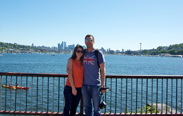 Meeting up with old friends from North Carolina and showing them Gas Works Park. Thanks for visiting Melanie and Jeremy!