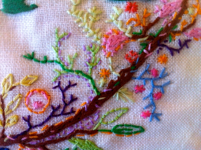 It was my first foray into embroidery..
