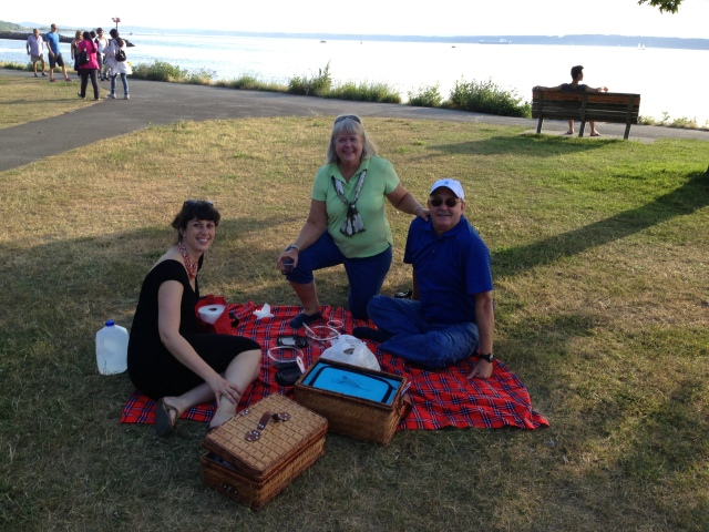 We took them to Golden Gardens for a picnic with Paseo sandwiches on the Sound.