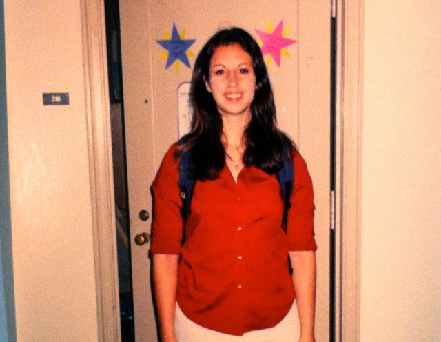 First day of college at Duke (ugh, yes, I really was that pale)