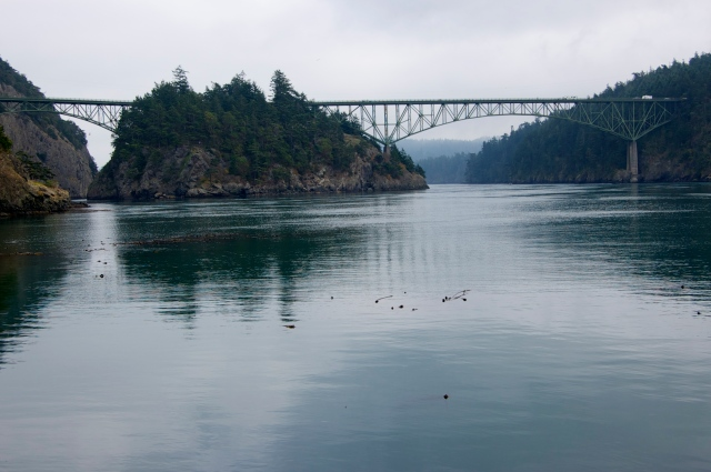 Bridge over Deception Pass. There are no toll cameras per AMC's The Killing story plot thoug.