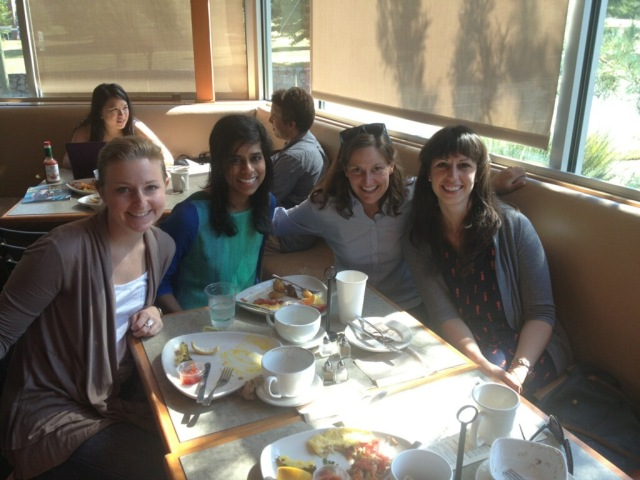 And delicious wedding brunch at Mad Hatters with Lauren, Sailaja, the lovely bride and her sister Ellie.