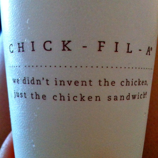 I don't even care that they're bigotted people, they make a delicious chicken sandwich.