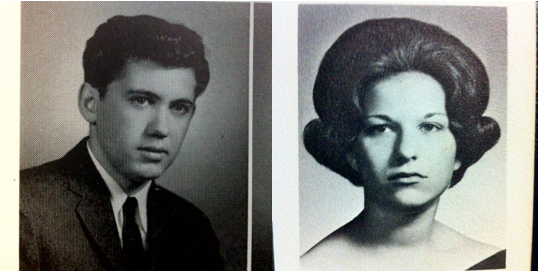 Paul and Fran's high school senior year portraits.