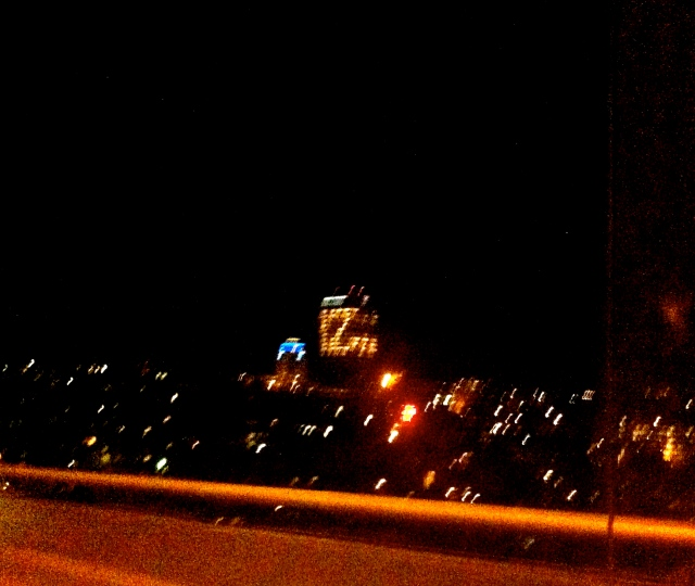 UW tower lit up in a 12. Forgive the picture, it's part of my artistic series of blurry iPhone photos.