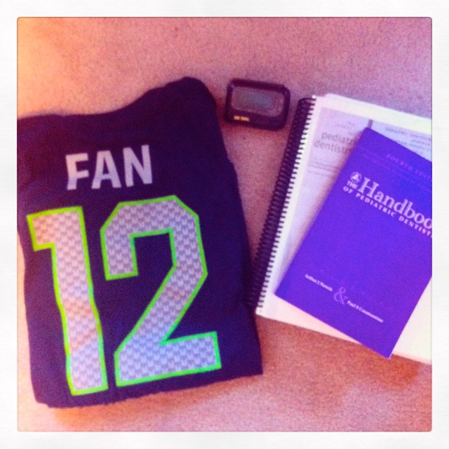 Unfortunately I'm on call, but I'm hoping that the both the Seahawks and I have good luck this evening during the game.