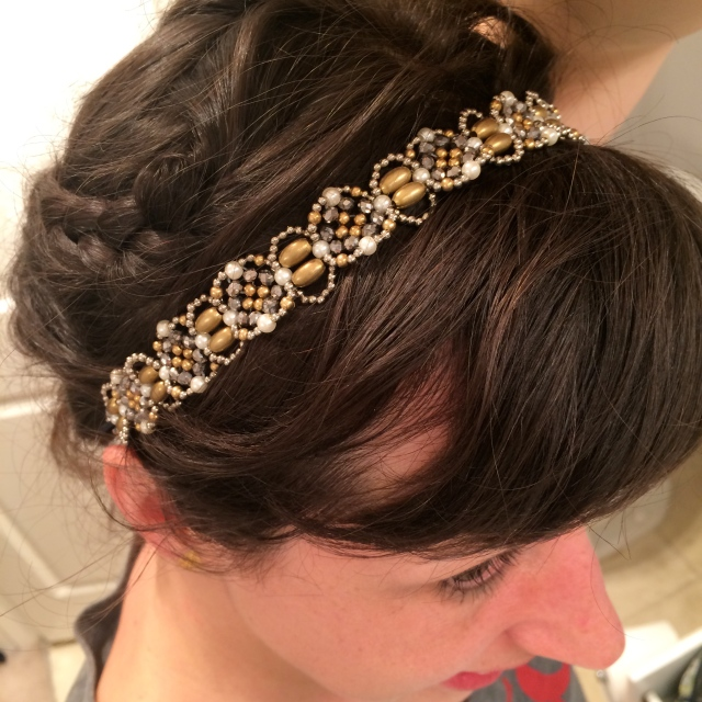 And since JLS was founded in 1924, I thought a Great Gatsby-esque headband was called for.