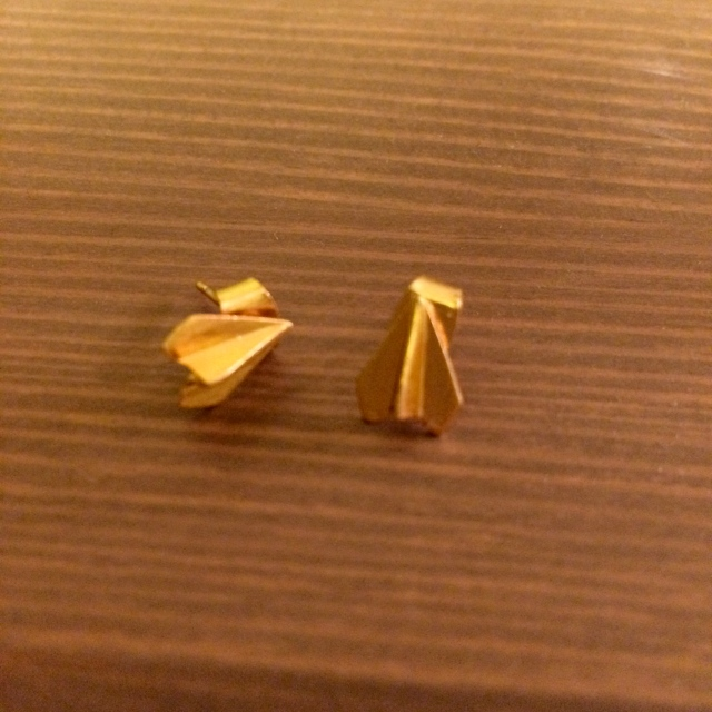 It was the perfect occasion to wear my paper airplane earrings from ohhellofriend.com that I found at Seattle's Urban Craft Uprising in December!