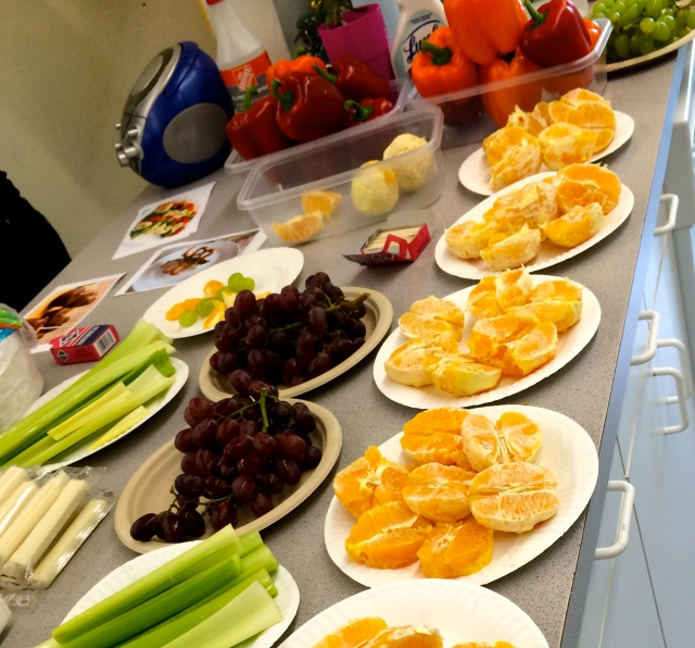 We had plenty of fruits and veggies for the kids!