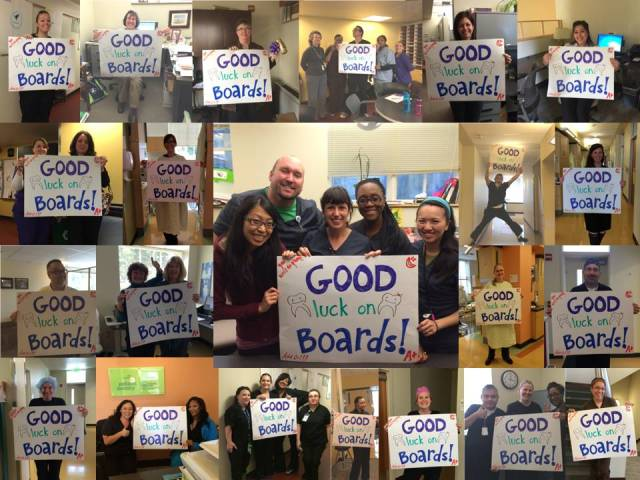 CPD faculty and staff helped us wish them good luck :)