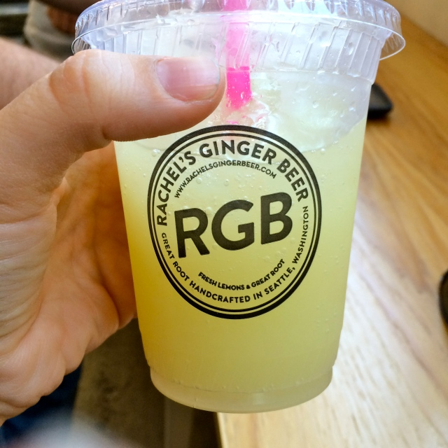 We started off in the Market with my favorite drinks - Rachel's Ginger Beer. I'd never actually been to the flagship store, we buy it at our local farmer's market (yes, I just hated myself a little for typing that), but it's super cute and they taste so refreshing - especially with rum!