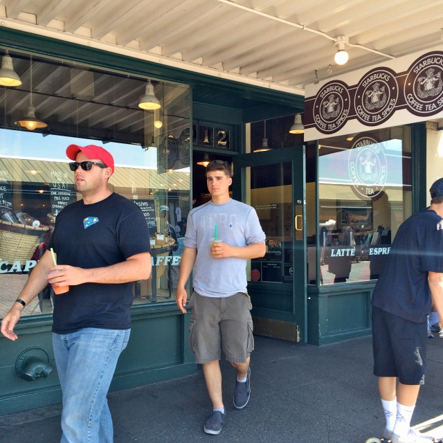And they weren't too impressed with the original Starbucks. I blame the spoiling them with Rachel's Ginger Beer first.