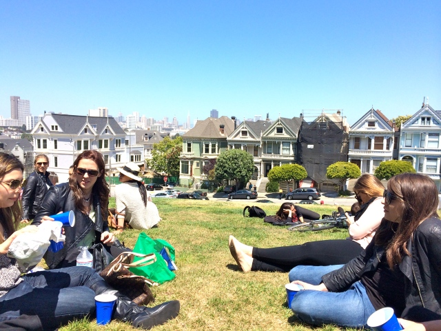 And settled down to enjoy the sunshine and some champagne near the Painted Ladies (of Full House opening credits fame).