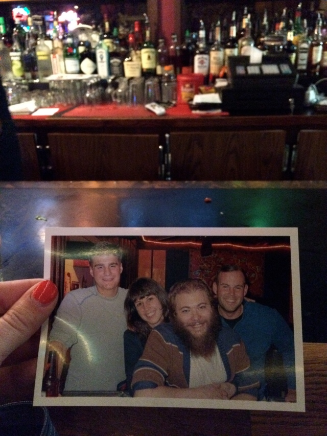 And bars who take your picture for the wall because your little brother really wants to be a part of it? The Moon Temple even printed out an extra photo for me to send to Graham.