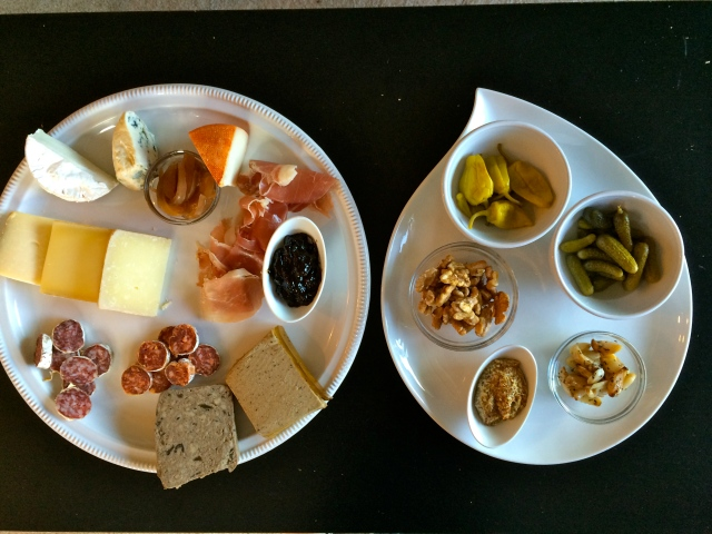 "And making our own charcuterie plates (or ""Adult Lunchables"" as we refer to them as)"