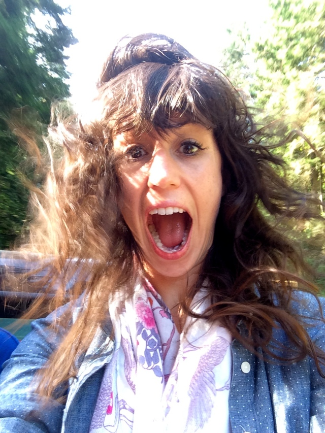 It was a little windy!