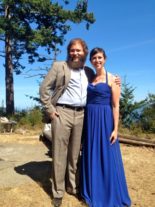 Jeff and I at the reception
