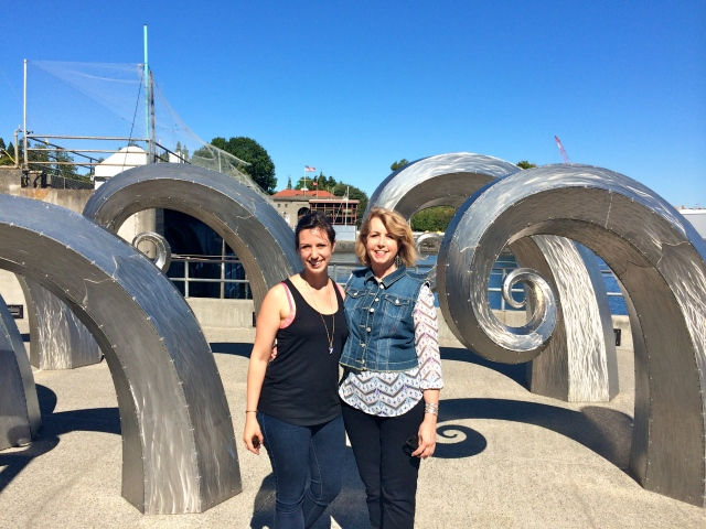 Ballard Locks - we loved this public sculpture!