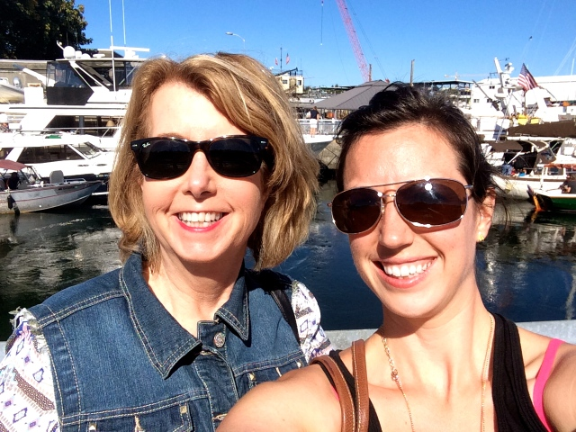 Selfie with the boats - we could not have gotten luckier with the weather!