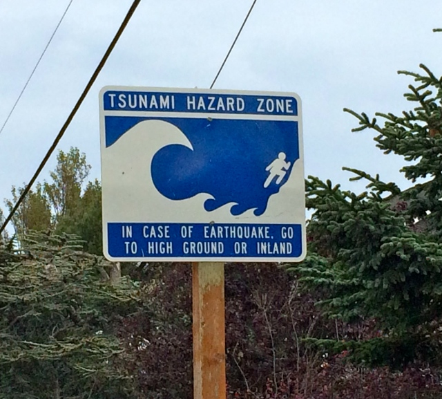 This time the danger was tsunamis, not volcanos!