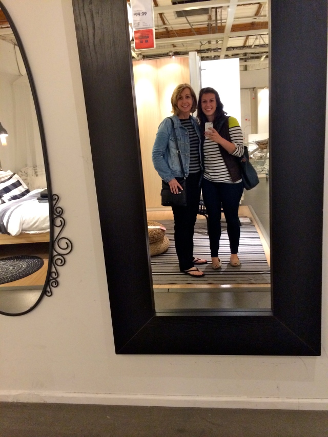 IKEA! The closest one to mom is 4 hours away in Atlanta. Also I am thinking about buying this mirror - it would fit perfect in this random nook in our bedroom.