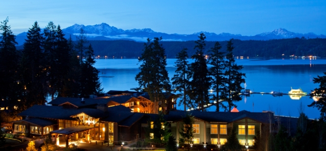 Unfortunately my real camera is still broken, so this trip was documented through iPhone photos which can't do this place justice. I stole this from Alderbrook's website to give you an idea of our amazing view.