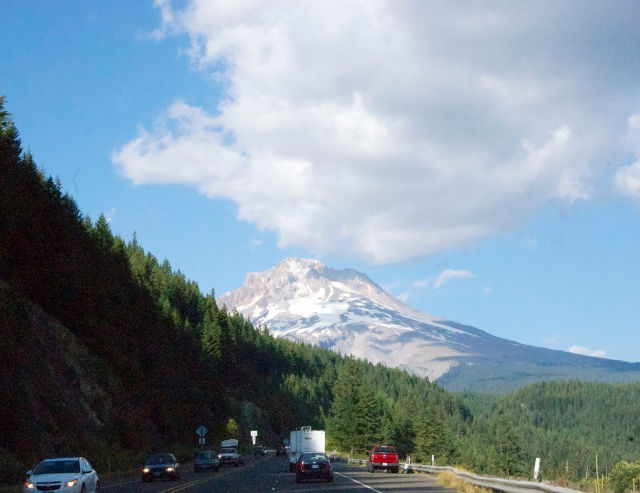 We had spectacular views of Mount Hood outside Portland