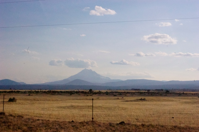 We drove down through Bend in what I can only describe as desolate volcano country. It's eerily empty and beautiful.