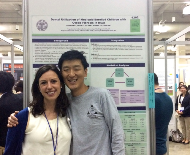 My advisor and I in front of my poster