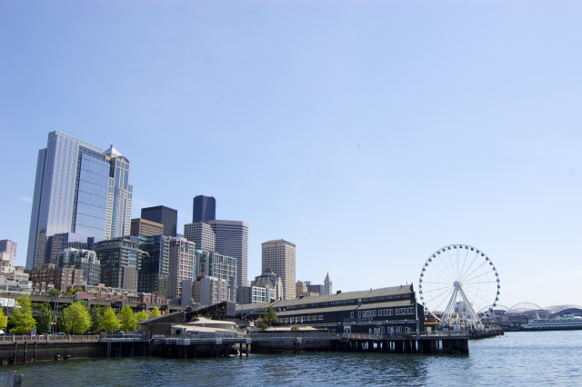 Seattle skyline from the waterfront