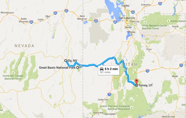 301 miles