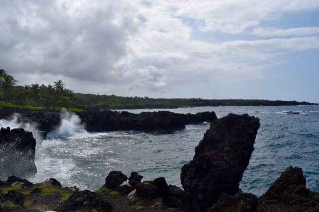 The coolest part of this was watching how violent the ocean was against the lava. We found multiple blow holes and tiny coves that were fascinating to watch.