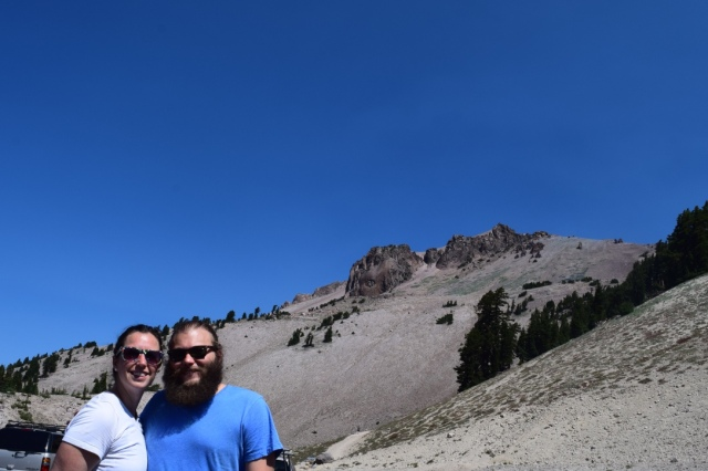 In front of Lassen Peak