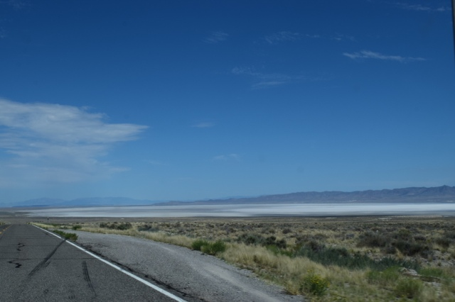Great Salt Flat in the distance