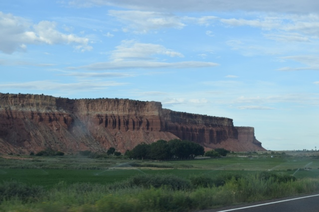 Our first glimpse of Rim Rock, right outside Capitol Reef National Park and our home for the night.