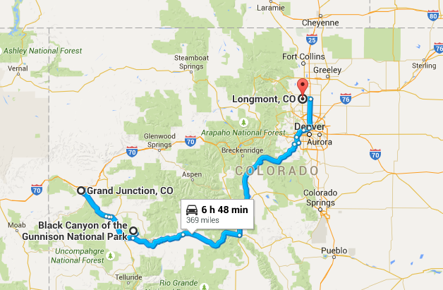 369 miles today (with an hour backed up in traffic) - respectable.