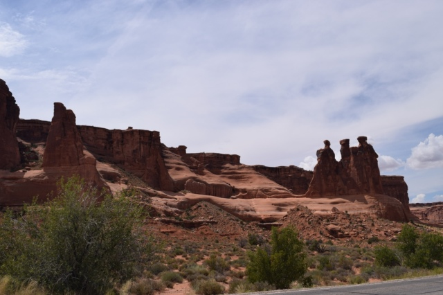 Driving in past the Three Gossips - perhaps my favorite name for a rock formation.
