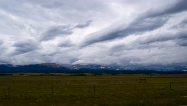 Glaciated peaks.