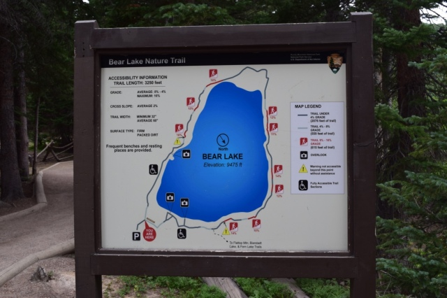 Our only stop was to Bear Lake, which turned out to be more nature trail than hike. The parking lot was full when we got there and we only ended up grabbing a spot because they opened up some later ones as we were leaving - talk about lucky!