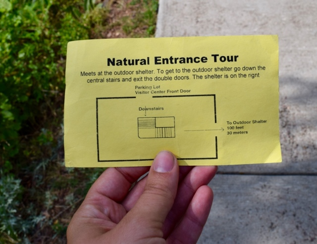 Our only option was the Natural Entrance Tour which is the usual one. Other tours explore slightly different areas of the cave or use only candles like early explorers.